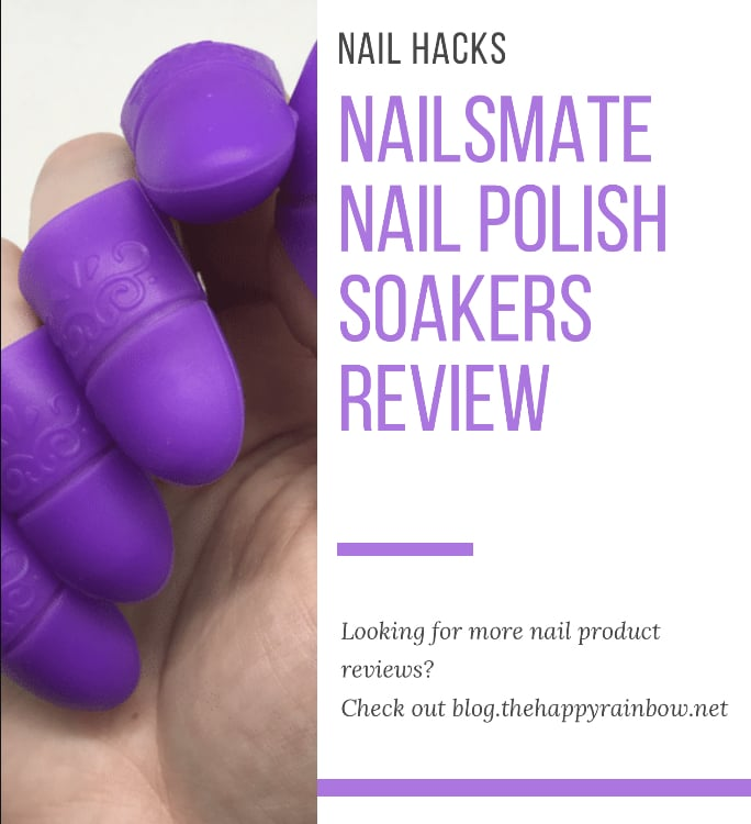 Basic Pinterest graphic for my nail polish soakers review