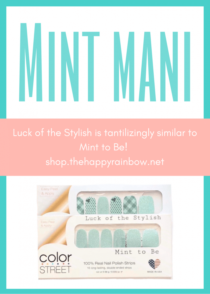 St. Patrick's Day nail polish comparison to Mint to Be