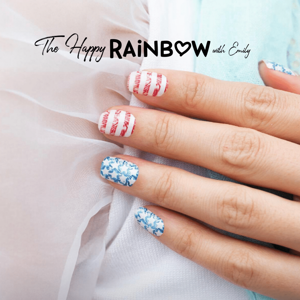 4th of July nail art stars and stripes Color Street