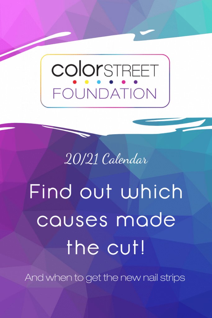 Intro to Color Street Foundation calendar 20/21 year