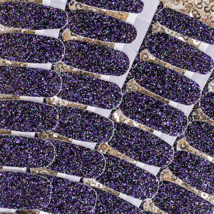 Close up photo of the Color Street Black Friday glitter nail polish for 2021