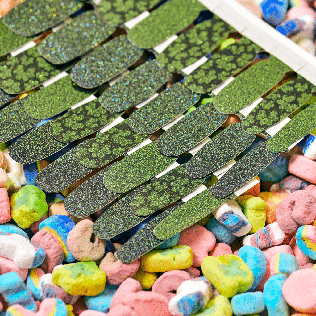 Color Street St. Patrick's Day Collection 2021 Close up photo of nail polish strips
