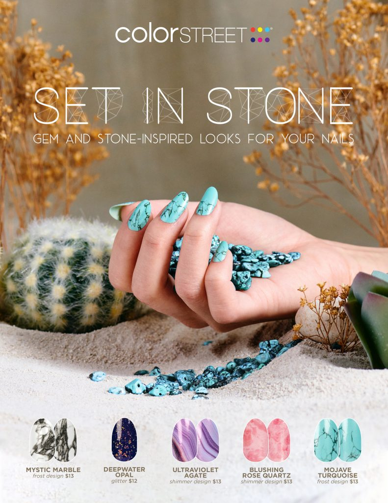 Set in Stone Color Street collection flyer