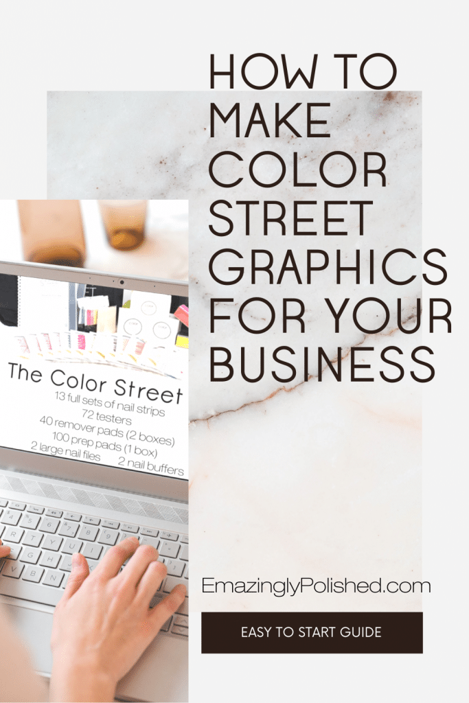 Pinterest pin for how to make Color Street graphics