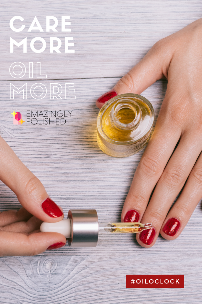 Use cuticle oil daily to care for your cuticles