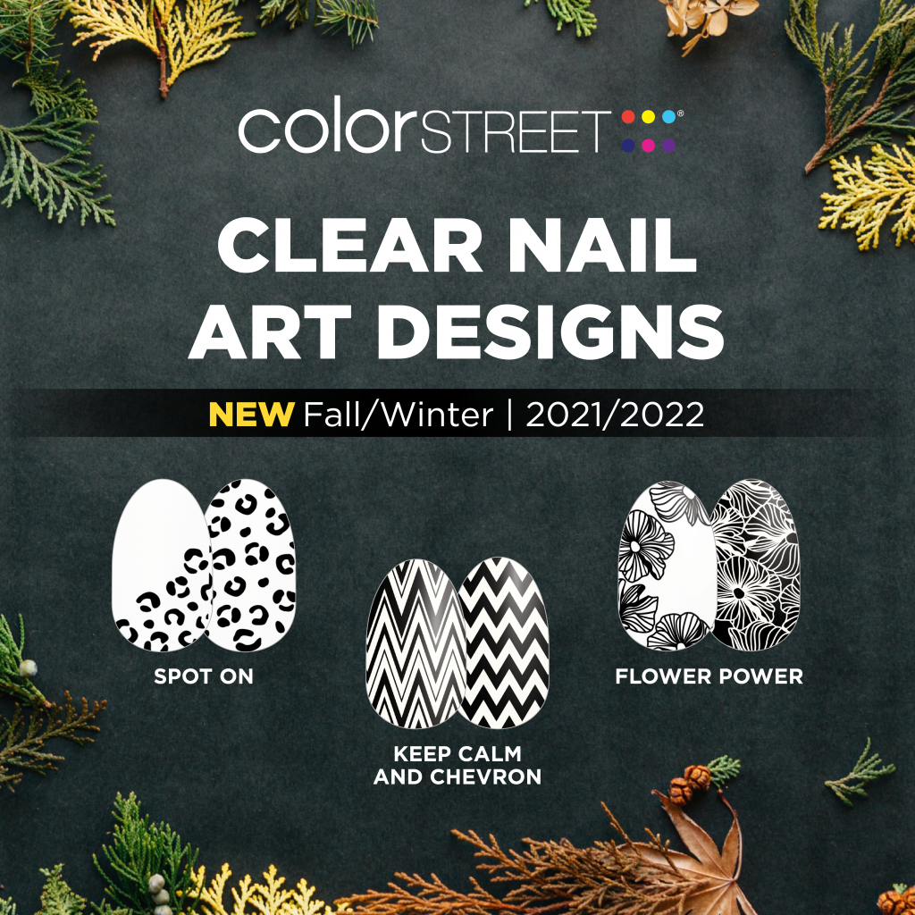 Photo of clear nail art designs for Color Street Fall launch 2021