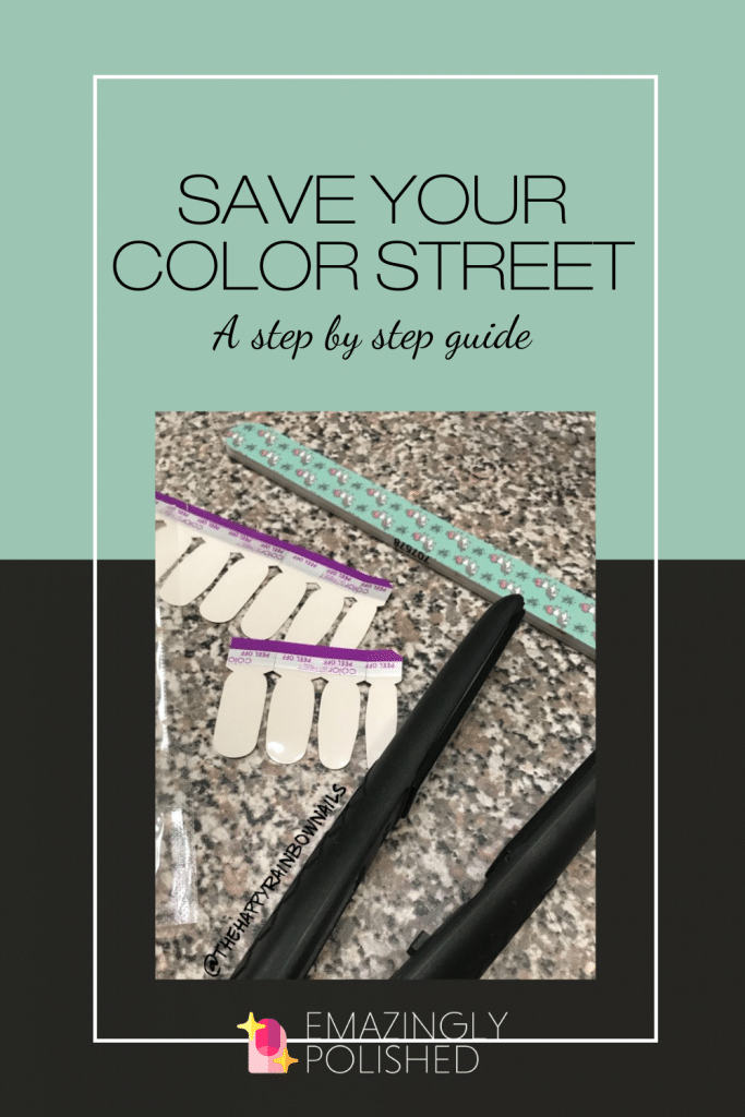 Pinterest image for how to save extra Color Street strips