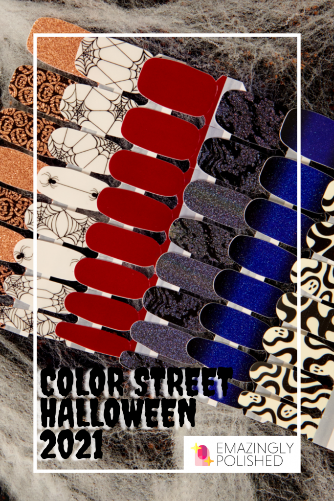 Color Street Halloween 2021 launch photo with all the designs